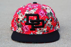 Image of DP Floral Snapback l RED