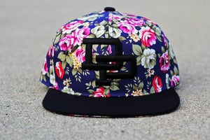 Image of DP Floral Snapback l NAVY