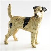 Image of Hubley Fox Terrier Doorstop / 1930s