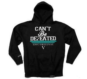 Image of Can't Be Defeated Pullover Hoodie - Black/Tiffany