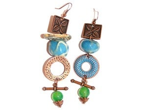 Image of Jade Charm Earrings
