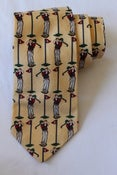 Image of Rooster Cotton Golf Print Tie