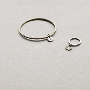 Image of Dangling Letter Bracelet + Ring