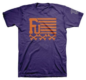 Image of UNCOMPROMISING FLAG TEE PRPL