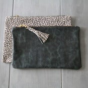 Image of Leather Clutch - Print