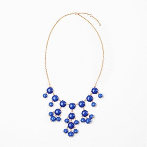 Image of Royal Blue Mini Bubble Necklace