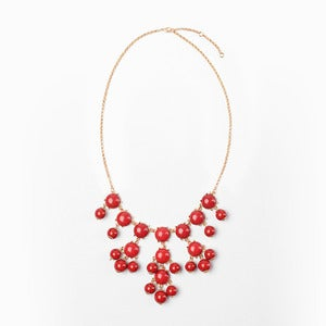 Image of Red Mini Bubble Necklace