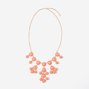 Image of Coral Mini Bubble Necklace