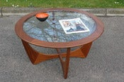 Image of Vintage G-Plan 'Astro' series teak and glass coffee table circa 1960/70s