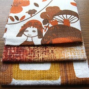 Image of FolksyGirl Vintage Barkcloth Fabric Scrap Bag