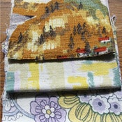 Image of Lofoten Vintage Barkcloth Fabric Scrap Bag