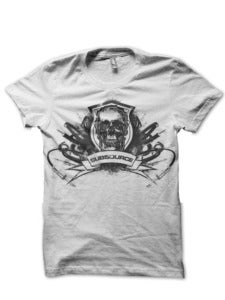 Image of White Skull Crest T-Shirt