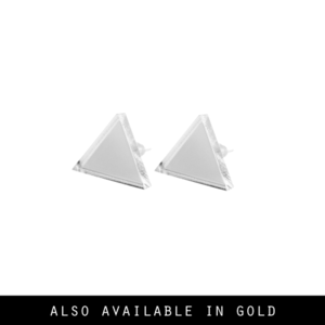 Image of Kloe. Mirrored Triangle Studs