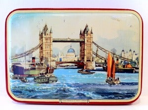 Image of VINTAGE RILEY'S LONDON SCENE TIN