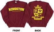 Image of NK - KINGSTON UNIVERSITY SWEATER (Cardinal Red & Gold)
