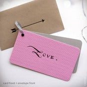 "Pink ""LOVE."" Mini Valentine with Kraft Envelope {# 222}"