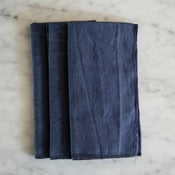 Image of navy linen napkins