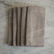 Image of dark natural linen napkins