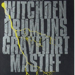 Image of Witchden, Drumlins, Gravedirt, Mastiff poster