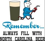 Image of Always Fill with North Carolina Beer!