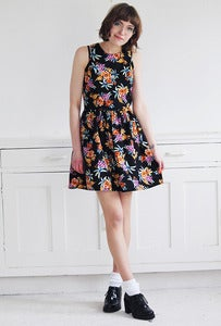 Image of Jula Dark Floral Dress