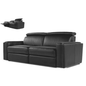 Image of Ellie Dual Reclining Leather Sofa 