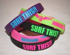 "Image of Brigade ""Surf This"" Neon Wristbands"