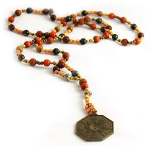 Image of Ying Yang Peace Hand Beaded Rosary