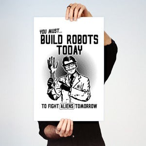 Image of Build Robots Big Print