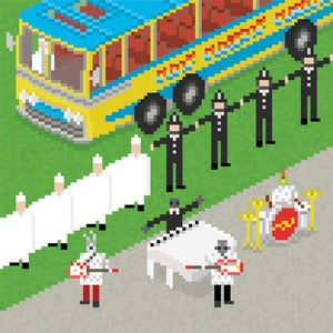 Image of Beatles Pixel Art - Magicial Mystery Tour: I Am The Walrus