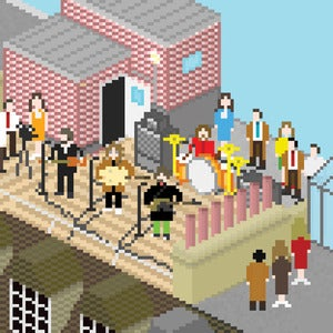 Image of Beatles Pixel Art - Get Back: 3 Savile Row Rooftop