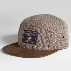 Image of The Academy Tweed classic 5 panel, Brown