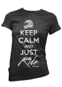 Image of Keep Calm Tee - Black/White