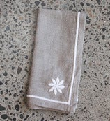 Image of White Flower Napkins