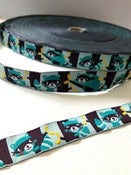 Image of Raccoons woven ribbon (by the metre)