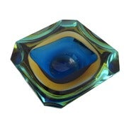 Image of SOLD Stunning 1960s Murano Faceted Glass Dish