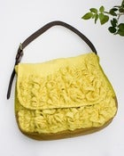 Image of extra large tough ruffles shoulder bag in perfect yellows
