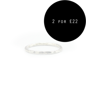 Image of Desre. Sterling Silver Dimple Knuckle Ring