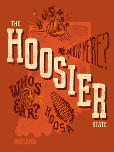 Image of The Hoosier State - Poster
