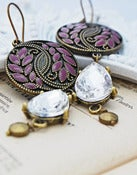 Image of Mauve Chandelier Earrings