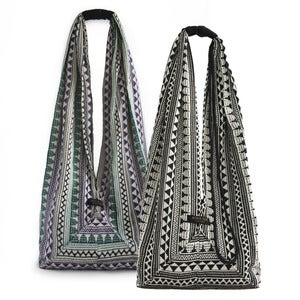 Image of Long Jogi Bag in Geometric or Aztec Jacquard