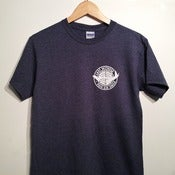 Image of 'Pan-Am Smile' Heather Navy/Charcoal Tshirt