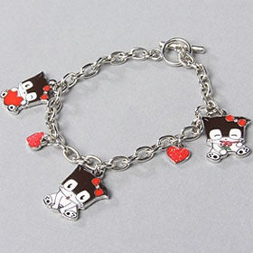 Image of Lovi Kitty Enamel Charm Bracelet