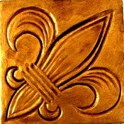 Image of Original Art - Fleur de lis Coaster