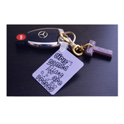 Image of Too Pretty Keychain - Personalized