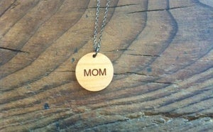 Image of Mom Wood Necklace