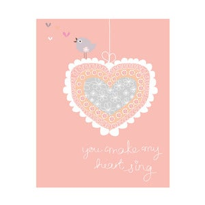 Image of 'You make my heart sing' Art Print