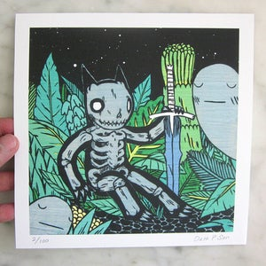 Image of Skeleton in Jungle Print