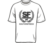 Image of WHITE SOUTHRNFRESH CREST TSHIRT - PREORDER