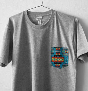 Image of AZTECA POCKET TEE (grey)